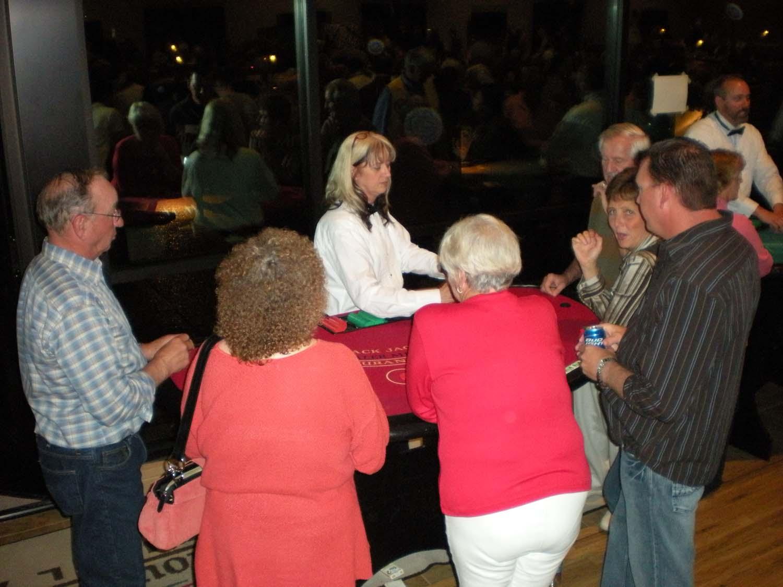 Casino night blackjack table