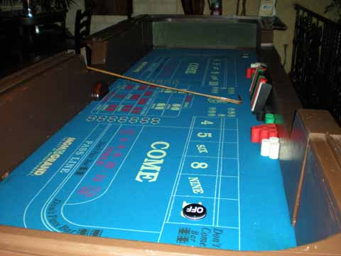 Craps table at a casino fundraiser in Tucson