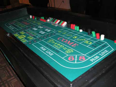 Craps table at a casino party in Tucson
