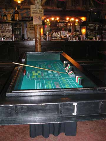 Craps table at a casino night in Tucson