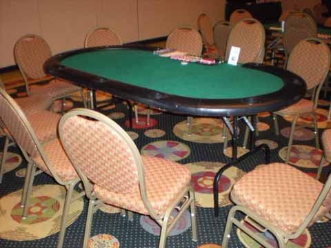 Poker table at a casino night in Tucson