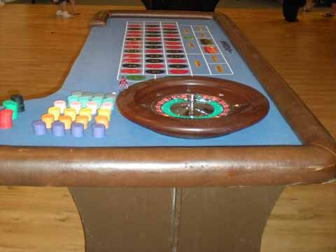 Roulette tables at a casino fundraiser in Tucson