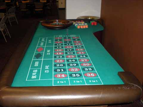 Roulette table at a casino party in Tucson